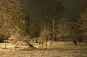 Двор после снегопада
