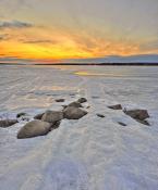 Закат на Пироговском водохранилище