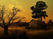 Луна на рассвете