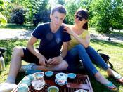 Чайная церемония в парке города
