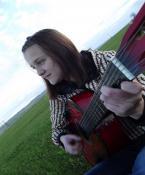 На природе с гитарой