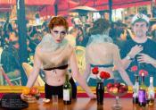 Impression dans un bar aux Folies-Bergère
