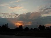 Закат в городе Озеры